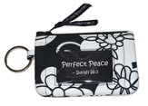Quilted ID Case, Isaiah 26:3, Black and White