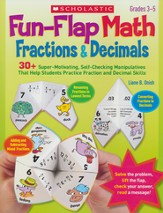 Fun-Flap Math: Fractions & Decimals: Manipulatives That Help Students Practice Fraction and Decimal Skills