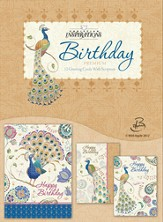 Glorious Peacocks, Birthday Cards, Box of 12