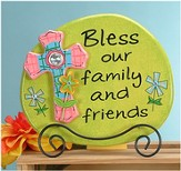 Bless Our Family and Friends Plaque with Easel