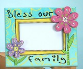 Bless Our Home Photo Frame with Flower