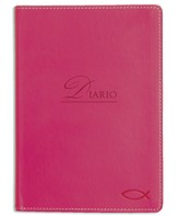Ichtus, Diario Imitación De Piel, Rosado  (Ichthus Lux-Leather Journal, Pink)