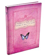 Deléitate En El Señor, Diario Mariposa, Rosado  (Delight Yourself In The Lord, Butterfly Journal, Pink)