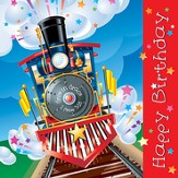 Happy Birthday, Train Napkins, Pack of 20