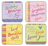 Birthday Blessings Cards, Box of 16