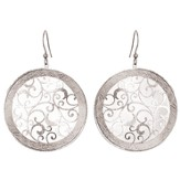 Scroll Circle Earrings