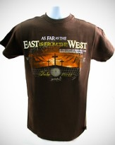 East West Shirt, Brown, Large