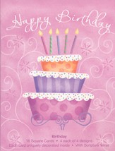 Birthday Surprise Cards, Box of 16