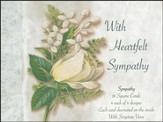 White Floral Sympathy Cards, Box of 16