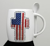 God Bless America Mug with Spoon