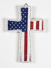 God Bless America Wall Cross