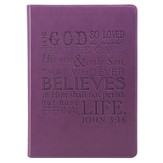 For God So Loved the World, LuxLeather Journal, Purple
