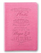 For I Know the Plans I Have For You, LuxLeather Journal, Pink