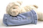 Personalized, Prayer Lamb, Now I Lay Me Down To Sleep, with Blanket, Blue