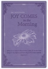Joy Comes in the Morning Devotional, LuxLeather, Purple