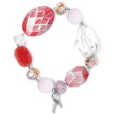 Hope Rocks Bracelet, Rhodium and Crystal Beads