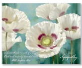 In Full Bloom Sympathy Cards, Box of 16