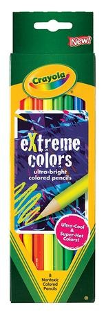 Crayola, Colored Pencils, Extreme Colors, 8 Pieces