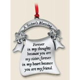 A Sister's Blessing--Pewter Ornament