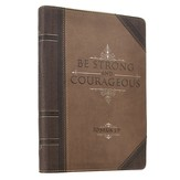 Be Strong and Courageous Zippered Journal