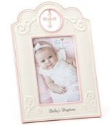 Baby's Baptism Photo Frame, Pink