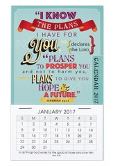 2017 I Know The Plans Mini Magnetic Calendar