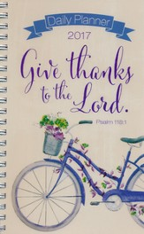 2017 Give Thanks Wirebound Daily Planner