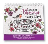 A Cup of Blessings for Every Day! 2017 Coloring Calendar
