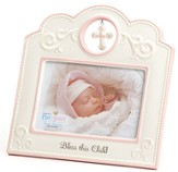 Bless This Child Photo Frame, Pink