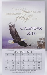 2016 Eagle, Mini Magnetic Calendar