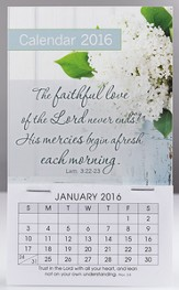 2016 Faithful Love of the Lord, Mini Magnetic Calendar