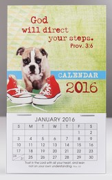 2016 God Will Direct, Mini Magnetic Calendar