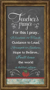 Teacher's Prayer Framed Art