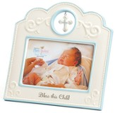 Bless This Child Photo Frame, Blue