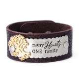 Many Hearts One Family Leather Bracelet