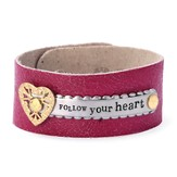 Follow Your Heart Leather Bracelet