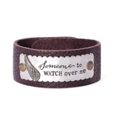 Someone To Watch Over Me Leather Bracelet