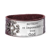Nothing Is Impossible With God Leather Bracelet