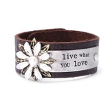 Live What You Love Leather Bracelet