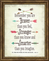 You Are Braver Than You Believe Framed Art