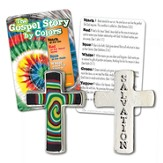 Gospel Story Tie-Dye Pocket Token and Card