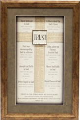 Trust, Cross Framed Art