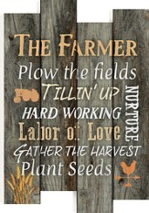 The Farmer, Staggered Pallet Wall Art