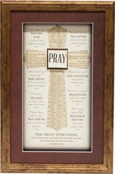 Pray, Cross Framed Art