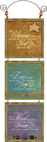 Blessings, Love, Word Plaque