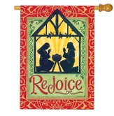 Rejoice Manger Flag, Large