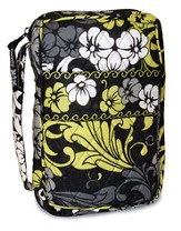 Quilted Bible Cover, Black, White, and Chartreuse, X-Large