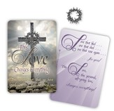 Crown of Thorns Pocket Card with Lapel Pin