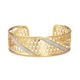 Faith, Love Cuff Bracelet, Gold Plate