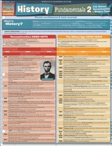 History Fundamentals 2: U.S. History-Reconstruction to Modern Times QuickStudy Academic Chart